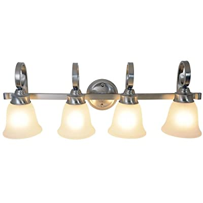 Monument 617252 Sanibel Vanity Fixture, Brushed Nickel, 32-1/2 In.