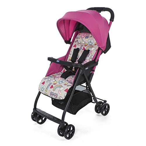 Chicco Chicco ohlala2 - Buggy Lightweight and Compact, 3.8 kg, Pink (Unicorn) - Buggy Ultra-Compact, colorunicorn