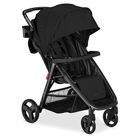 Combi Stroller Cover - Premium Baby Strollers For Lightweight Use (16.3 Pounds) With Infants, Toddlers And Kids, Easy Fold & Store Sleek Black Color