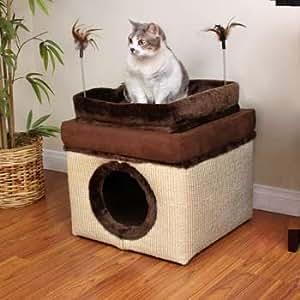 Amazon Com Petco Deluxe Convertible Ottoman Cat Condo