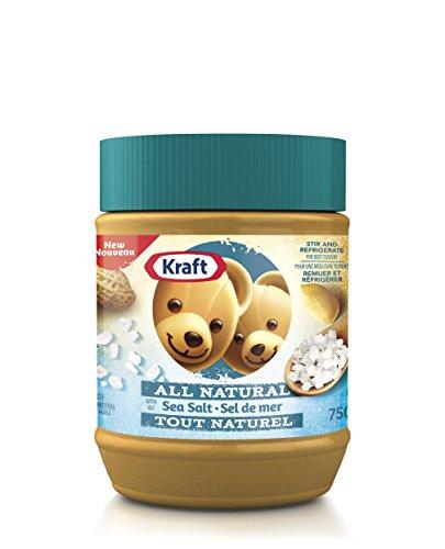 KRAFT Peanut Butter - All Natural Sea Salt 750G