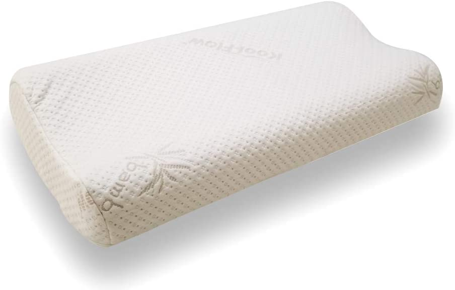 Snuggle-Pedic Trillow 3 in 1 Contour Memory Foam Pillow Adjustable 3 in 1 Fit and Zipper Removable Kool-Flow Breathable Cooling Hypoallergenic Bamboo Pillow Cover (King/Queen)