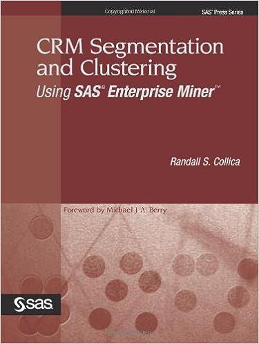 Book CRM Segmentation and Clustering Using SAS Enterprise Miner (Sas Press Series)