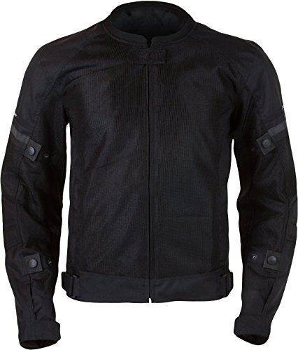 Pilot Motosport Men's Slate Air Jacket (Black, Large)