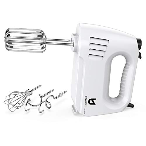 Hand Mixer Electric, UTALENT 180W Multi-speed Hand Mixer with Turbo Button, Easy Eject Button and 5 Attachments (Beaters…