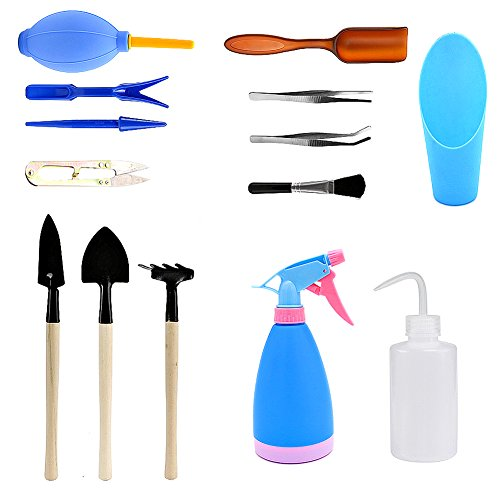 VGoodall 14 Pieces Mini Garden Tools Set,Succulent Transplanting Hand Tool Set include Shovel Rake Spade for Indoor Plant Care review.