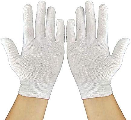 Mackur - Guantes de Nailon y algodón, Color Blanco: Amazon.es: Hogar