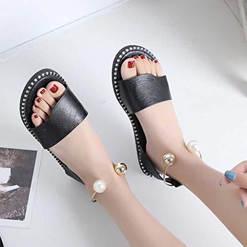 Scarpe Donna Ragazza Ihengh Nuovo Solido San Casual 2019 Pantofola Moda Sandali Valentino Appuntito Estate Nero Spiaggia Romani 6HHwvSYq