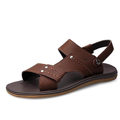 In Dimensione Pelle Casual Per Marrone 28 Wear spiaggia Colore 2 23 0 Uomo Sandali Wagsiyi Estivi 5 3 da Wear Scarpe Sandals EU 40 pantofole And CM Marrone xq0BYtX