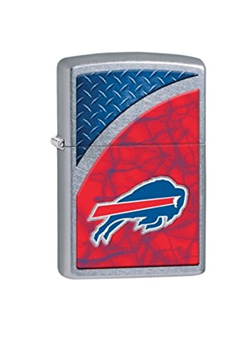 NFL Football Buffalo Bills Zippo Outdoor Indoor Windproof Lighter Free Custom Personalized Engraved Message Permanent Lifetime Engraving on Backside