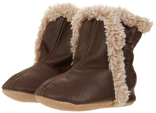 Robeez Classic BN Crib Shoe ,Brown,6-12 Months M US Infant