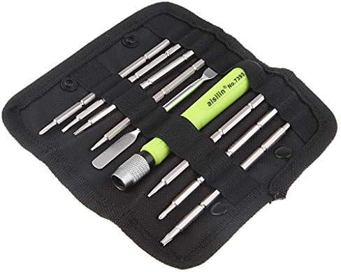 多機能 スクリュードライバ 9 in 1 携帯電話 修理工具セット バッグ付き
