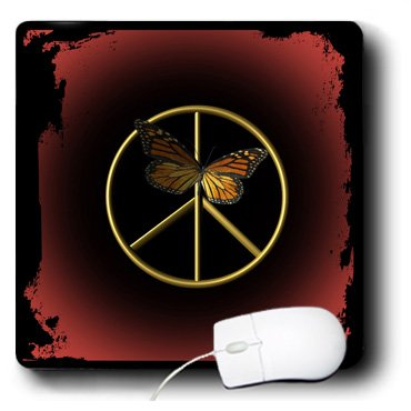 3drose Llc 8 X 8 X Inches Mouse Pad A Gold Peace