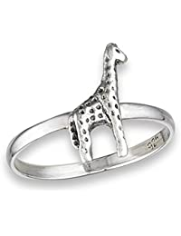 African Giraffe Animal Cute Ring New .925 Sterling Silver Band Sizes 3-8