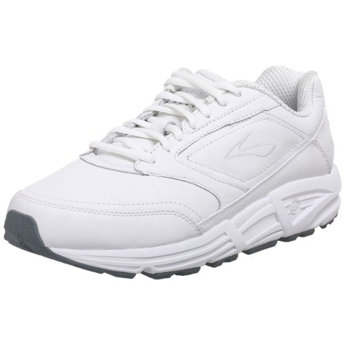 Brooks Men 's Addiction Walker Walking Zapato, color Blanco, talla 10.5 B (Leather Made Italian White)