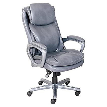 Enjoyable Sserta Smart Layers Arlington Bonded Leather High Back Executive Chair Gray Pewter Pabps2019 Chair Design Images Pabps2019Com