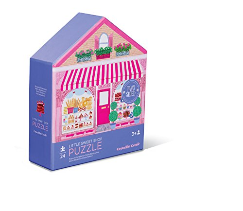 Crocodile Creek 4150-1 Two-Sided Little Sweet Shop Puzzle (24 Piece), Purple/Pink/Teal/Green/Blue ()