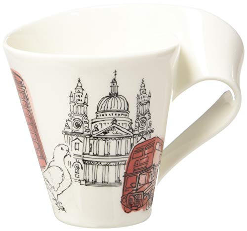 New Wave Caffé Cities of the World Mug London By Villeroy & Boch - Premium Porcelain - Made in Germany - Dishwasher and Microwave Safe - Gift Boxed - 11.75 Ounce Capacity ()