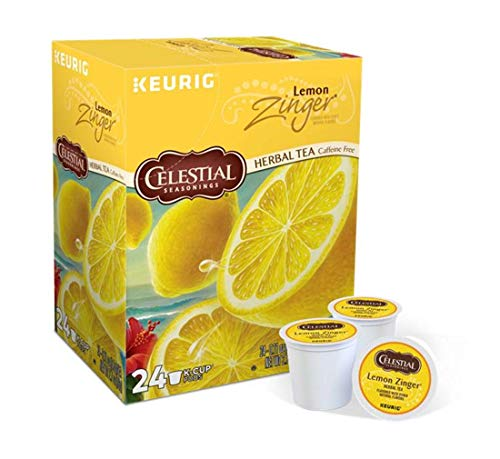 Keurig Tea and Ice Tea Pods K-Cups 18/22 / 24 Count Capsules ALL BRANDS/FLAVORS (Twinings/Chai/Celestial/Lipton/Tazo/Diet Snapple) (24 Pods Lemon Zinger Herbal Tea) -  Globalpixels