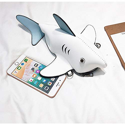 Stéréo Bandoulière 3d Cartoon À Blanc Mignon Diagonal À Blanc De Simulation Féroce Cross Couleur Animal Sac Zwzh Sac Creative Femme Sac Requin Main nwCxqtgn8I