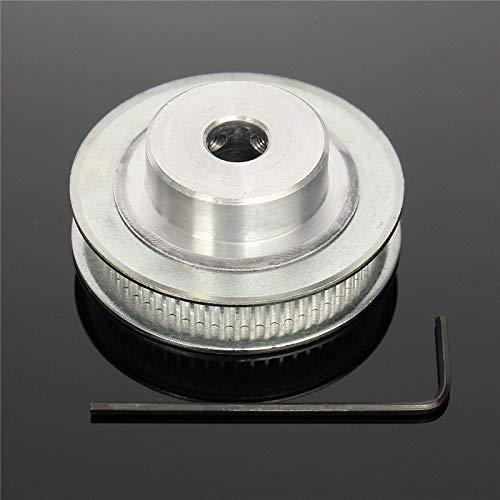 TOYECOTA - NEW Aluminum 3D Printer Timing Belt Pulley GT2 Belt Pulley with 60Teeth 8mm Bore for RepRap Prusa Mendel 3D Printer