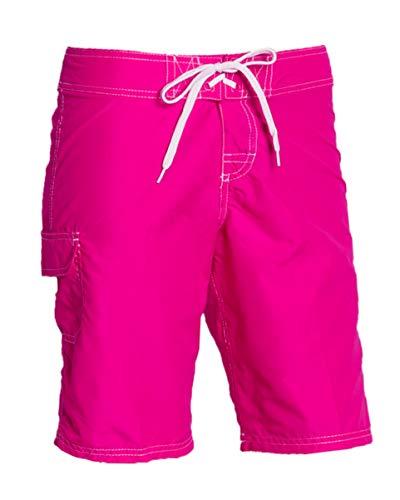 (Kanu Surf Women's Marina UPF 50+ Active Swim Board Short (Reg & Plus Sizes), Pink, 8)