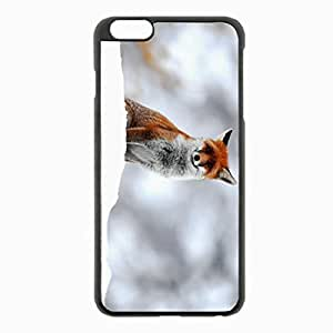 iPhone 6 Plus Black Hardshell Case 5.5inch - snow sit Desin Images Protector Back Cover