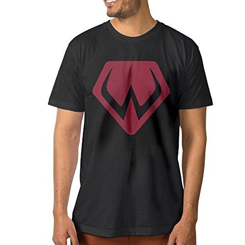 Black Widow Mustang - SUEPER Men's Widowmaker Video Game Hero Athletic Shirt Tees Black XXL