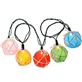 GZQ String Lights Fish Net Buoy Ball Decorative Fairy Lamp 5m/16.4ft 20 Led for Home Wedding Birthday Party Bedroom Garden Patio Christmas Tree (Warm White)