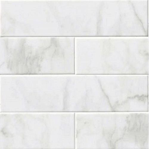 bathroom ceramic tile. GLOSSY WHITE CARRARA Subway Backsplash Tile Ceramic 4  X 16 KITCHEN BATHROOM SHOWER Bathroom Amazon com