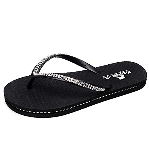 indossa donna moda AJZGF fuori Blu femminile da Nero infradito scarpe Colore con spiaggia dimensioni sandali zeppe da estiva 39 xIggq1