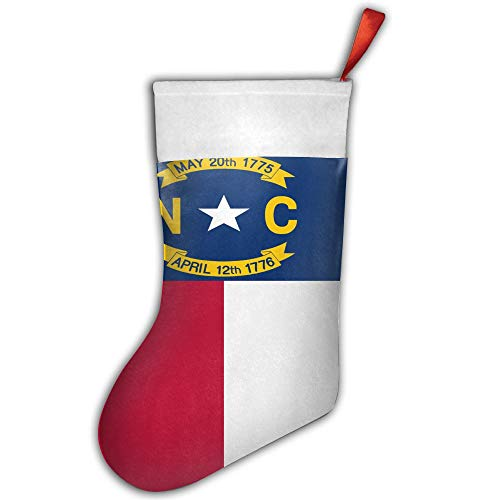 Christmas Stocking Flag of North Carolina Xmas Tree Decorations Santa Socks Snowman Ornaments Candy Bag