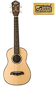 Oscar Schmidt 4 String Tenor Ukulele OU4, Spruce Top,Satin Finish, w/ TMS Polishing Cloth, OU4 PC