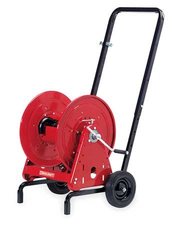 Hose Reel w/Cart, 3/4 Inx100 Ft Hose Cap by Reelcraft