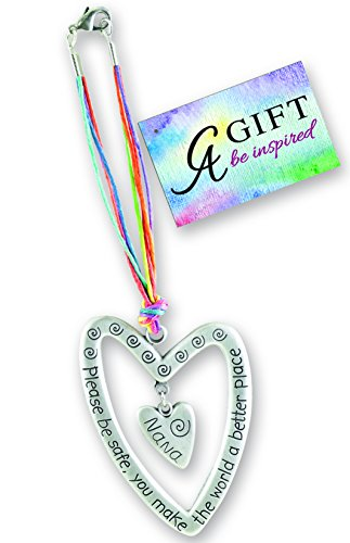 Cathedral Art KT601 Nana Please Be Safe Heart Car Charm, 7-Inch - Frame Photo Art Heart Charm