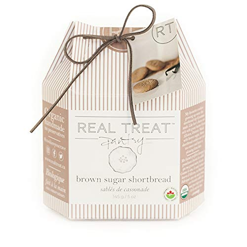 Shortbread Cookies Brown Sugar - Real Treat Pantry Organic Cookies - Brown Sugar Shortbread - Gourmet - 140 g / 5 oz