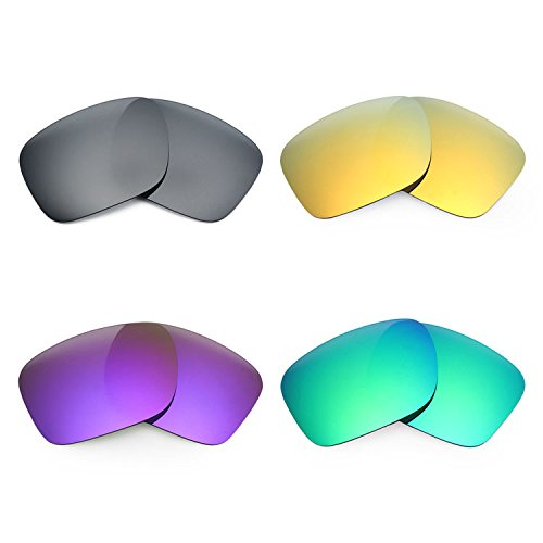 Mryok 4 Pair Polarized Replacement Lenses for Oakley Holbrook LX Sunglass - Black IR/24K Gold/Plasma Purple/Emerald - Lx Sunglasses