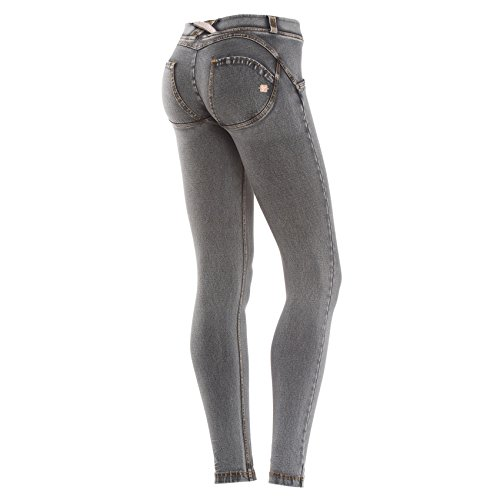 Freddy jaune Skinny Basse Dlav Effet gris Taille WR UP pour Clair Jean Femme Gris Denim fcqnf6rwCt