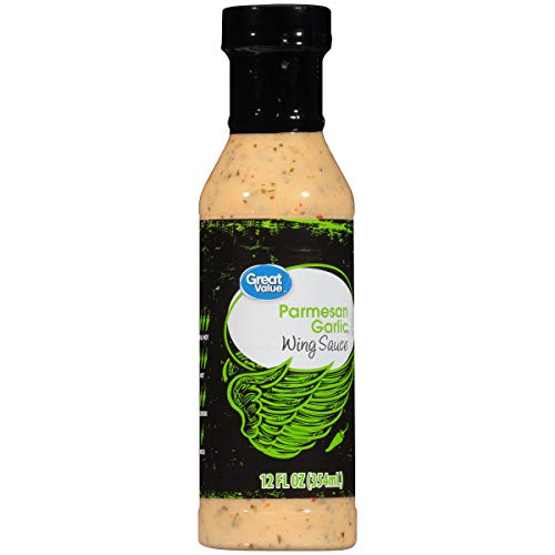 Great Value Parmesan Garlic Wing Sauce, 12 fl oz