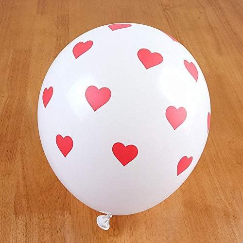 パーティーの装飾Bollons | 12インチ2.8グラム30個クリアラブリーハートRomatic透明ヘリウム風船結婚式誕生日パーティーの装飾バレンタインラテックス風船、赤、12インチ