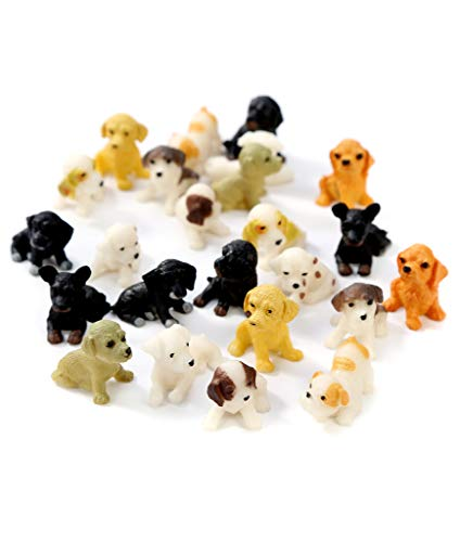 Windy City Novelties 24 Pack | Mini Toy Puppy Dog Figurines Pretend Play for Toddler & Kids |