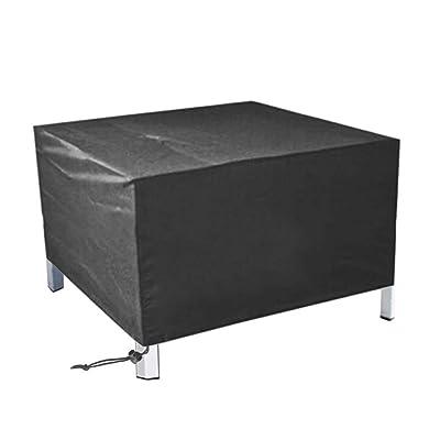 "Quable Patio Furniture Covers Waterproof, Outdoor Garden Furniture Set Covers, 210D Oxford Fabric Patio Furniture Covers Rectangle Table and Chairs, Black (83.8""×51.9""×29.13"") : Garden & Outdoor"