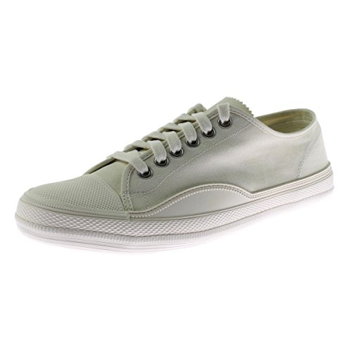 Tretorn Men's Racket Low Canvas Sneakers, Antique White/Fairway Green, 9.5 D(M) US Fairway Fan