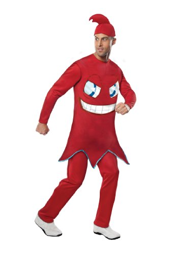Rubie's Costume Pac-man Adult Blinky Jumpsuit With Foam Tummy, Red, Standard Costume - 1980s Cartoon Characters Costumes
