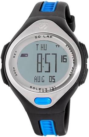 Soleus Women s SR005240P 131 Black and Blue 50 Lap Digital Sports Watch
