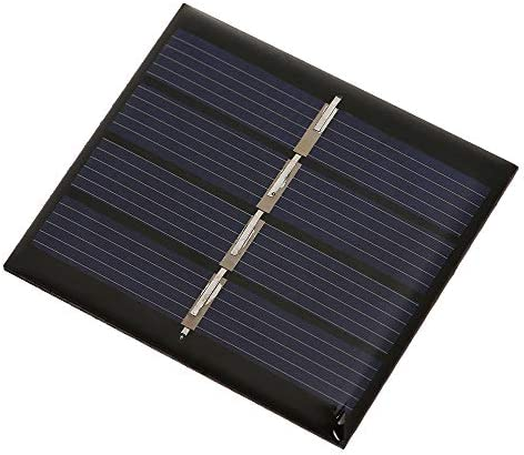 Decdeal Solarmodule 0.36W / 2V DIY Mini Solarpanel Modul mit Linien Solarzelle PET Polykristallines Silizium für Solarlichter zeigt Spielwaren 188 x 78.5MM