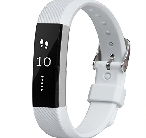 Blue Joy White Replacement band for Fitbit Alta, Fitbit Alta Accessories Band, Silicone Watch Strap Wrist Band with Watch Buckle For Fitbit Alta (White) (Dallas Cowboys Alarm)