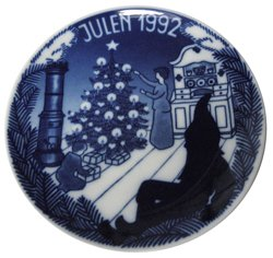 1992 Porsgrund Christmas Plate - Lighting up ()