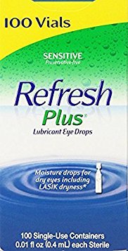 Allergan Refresh Plus Lubricant Eye Drops Single-Use Vials - opy4yt 4Pack (100 ct )