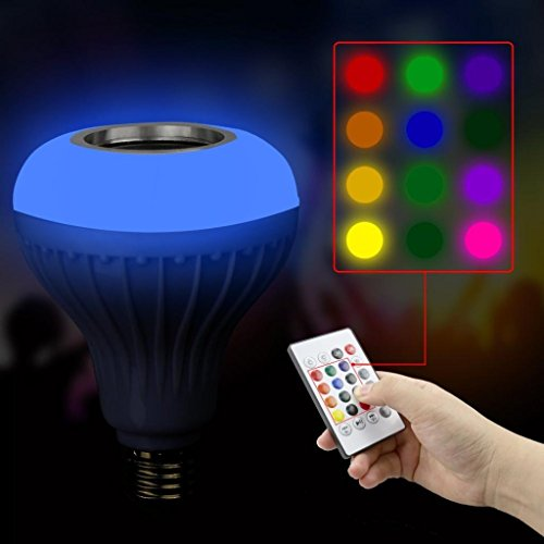 SHJNHAN MusicLed Light Bulb with Bluetooth Speaker RGB Built-in Audio Speaker